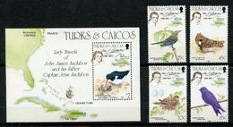 Turks & Caicos, Yvert 709/712+BF56, Scott 651/654&655, MNH - Turks And Caicos