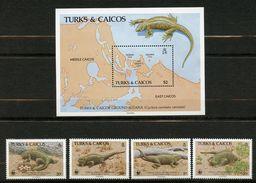 Turks & Caicos, Yvert 758/761+BF67, Scott 710/713&714, MNH - Turks & Caicos