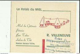 Carte De Montargis 45    Le RELAIS Du Miel  De R  VILLENEUVE - Bar-Tabac-Station TOTAL - Montargis