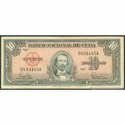 TWN - CUBA 79b - 10 Pesos 1960 D 833485 A F/VF - Cuba