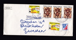 Dominican Republic: Cover To Netherlands, 1980, 6 Stamps, Electricity, Energy, Art, Forwarded To Sweden (damage At Back) - Dominicaanse Republiek