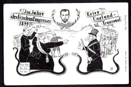 CPA ANCIENNE FRANCE- MILITARIA 1900- GUERRE DES BOERS- TRANSVAAL- DESSIN AVEC REINE VICTORIA ET KRUGER- 2 SERPENTS- - Otras Guerras