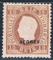 Açores, 1882/4, # 38 Dent. 12 3/4, MHNG - Azores