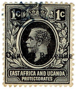 (I.B) KUT Revenue : Uganda Duty 1c (1912) - Kenya, Uganda & Tanganyika