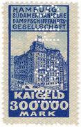 (I.B-CK) Germany Cinderella : Hamburg Sud-Amerika Linien - Port Charges 300,000M - Germany