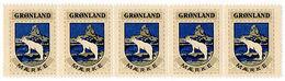 (I.B) Greenland Cinderella : Postal Seals (Polar Bear) - Greenland