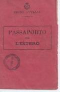 PASSEPORT ITALIEN Timbres Fiscaux  Dim ;;142 Mm X 90 Mm 1euro - Vieux Papiers