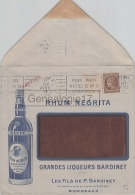 75 18 171 PARIS SEINE 1946 RHUM NEGRITA Rhums Liqueurs BARDINET - Postmark Collection (Covers)