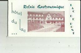 Carte De Visite De HOTEL Du LAC _Relais Gastronomique (Lac De Pont) R  LAURENCON Et Fils A SEMUR-en-AUXOIS 21 - Visitenkarten