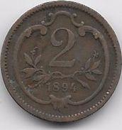Autriche - 2 Heller 1894 - Autriche