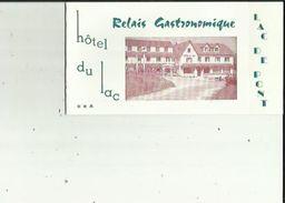 Carte De Visite De HOTEL Du LAC _Relais Gastronomique (Lac De Pont) R  LAURENCON Et Fils A SEMUR-en-AUXOIS 21 - Visitekaartjes