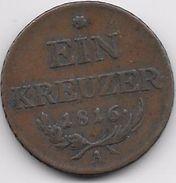 Autriche - Ein Kreuzer 1816 A - Autriche