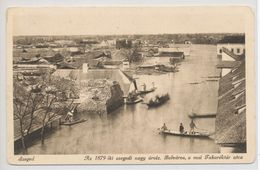 Szeged - The Great Flood In 1879 In Szeged. Downtown, The Present-day Takarektar Street. - Hungary