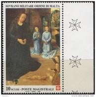 PIA - SMOM - 1994 :Natale - Particolare Del Trittico Portinari Di Hugo Van Der Goes - (UN   473) - Sovrano Militare Ordine Di Malta