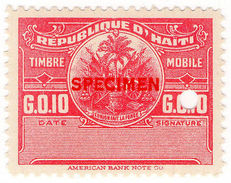 (I.B) Haiti Revenue : Duty Stamp 10c (Specimen) - Haiti