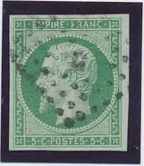 Empire ND 5 C Vert N° 12 TB Signé CALVES. - 1853-1860 Napoléon III
