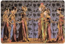 Elaborate 'Golek' Puppets - Indonesian Wayang Golek Theatre - Sari Pacific Hotel, Jakarta - (Indonesia) - 3 STAMPS - Indonesien