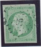 Empire ND 5 C Vert Pale N° 12 TB Signé CALVES. - 1853-1860 Napoléon III