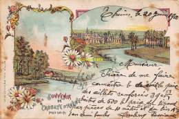 CPA LITHO SOUVENIR DE L'ABBAYE D'AULNE PRES THUIN J GOFFIN BRUXELLES - Thuin