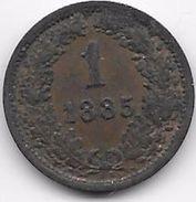 Autriche - 1 Kreuzer 1885 - Autriche