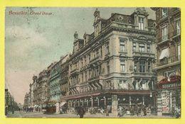 * Brussel - Bruxelles - Brussels * Grand Bazar, Tram, Vicinal, Animée, Couleur, Rare, Old, Straatzicht, TOP - Brussel (Stad)