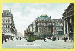 * Brussel - Bruxelles - Brussels * (EDN VO-DW Anvers) Place De La Bourse, Beursplein, Cheval, Tram, Vicinal, Couleur - Bruxelles-ville