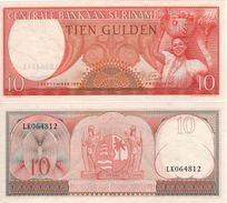 SURINAME   10  Gulden  P121b    1963   UNC - Surinam