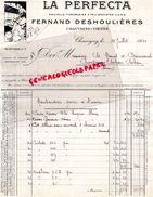 86- CHAUVIGNY- FACTURE LA PERFECTA-FERNAND DESHOULIERES- 1955 NOUVELLE PORCELAINE A FEU - 1950 - ...