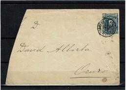 LSAU12CO -  BOLIVIE GRAND FRAGMENT D'ENVELOPPE CIRCULEE JANVIER 1902 - Bolivie