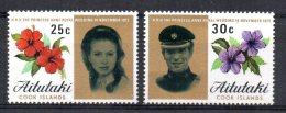 Aitutaki - 1973 - Royal Wedding - MNH - Aitutaki