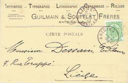 CP/PK Publicitaire ANTOING 1910 - Entête GUILMAIN & SOUFFLET Frères Imprimerie-typographie-lithographie-cartonnage - Antoing