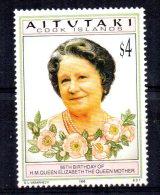 Aitutaki - 1995 - Elizabeth, Queen Mother 95th Birthday - MNH - Aitutaki