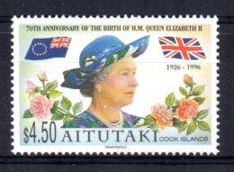Aitutaki - 1996 - Queen Elizabeth II's 70th Birthday - MNH - Aitutaki