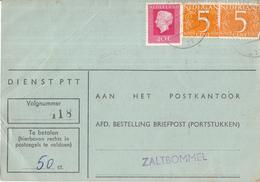 Nederland - Strafportkaart Zaltbommel - P1306 (2.640.000 - VII - '74) - 2403 - 407403F - Poststempel