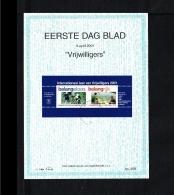 2001 - EDB Visje No. 258 - International Year Of The Volunteers - Fire Brigade - Animal Protection Society [B18_084] - Periode 1980-... (Beatrix)