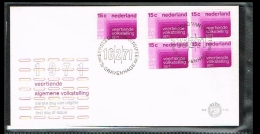 1971 - Netherlands E110 With Block Of 4 - 14th Census [A202_040] - FDC