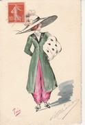 Illustration Theo-Femme,Chapeau,Mode. - Autres Illustrateurs