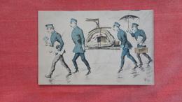 Men Carry Item Signed On Bottom Left Side Ref 2732 - Naissance