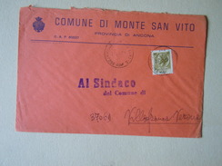 TEMATICA BUSTE COMUNALI - COMUNE DI MONTE SAN VITO   1969 - Buste