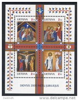 LITHUANIA 2000 Bimillenary Of Christianity Block MNH / **.  Michel Block 20 - Lithuania