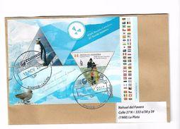 Une Argentine Un Enveloppe Circulé Avec Un Bloc Traité Antarctique - Antarctic Treaty