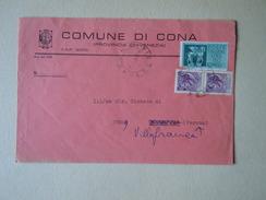 TEMATICA BUSTE COMUNALI - COMUNE DI CONA    1969 - Buste