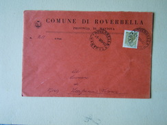 TEMATICA BUSTE COMUNALI - COMUNE DI ROVERBELLA  1969 - Buste