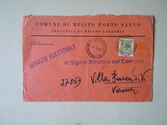 TEMATICA BUSTE COMUNALI - COMUNE DI MELITO PORTO SALVO  1969 - Buste