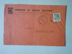 TEMATICA BUSTE COMUNALI - COMUNE D COSTA DI VOLPINO    1969 - Buste