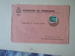 TEMATICA BUSTE COMUNALI - COMUNE DI PESCARA FRAMMENTO     1935 - Buste