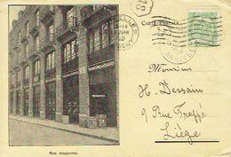 CP/PK Publicitaire Illustrée BRUXELLES 1908 - MUMM & ZAUM (magasins) Max WILLICK - Fournitures De Bureaux Et De Classes - Belgique