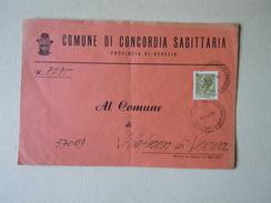 TEMATICA BUSTE COMUNALI - COMUNE DI CONCORDIA SAGITARIA 1969 - Buste