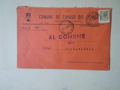 TEMATICA BUSTE COMUNALI - COMUNE DI CAVASO DEL TOMBA  1969 - Buste