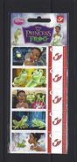 BELGIQUE - BELGIE Mijn Zegel DUOSTAMP  -  Strook Van 5 Postzegels DISNEY Princess And The Frog Geseald - Belgique